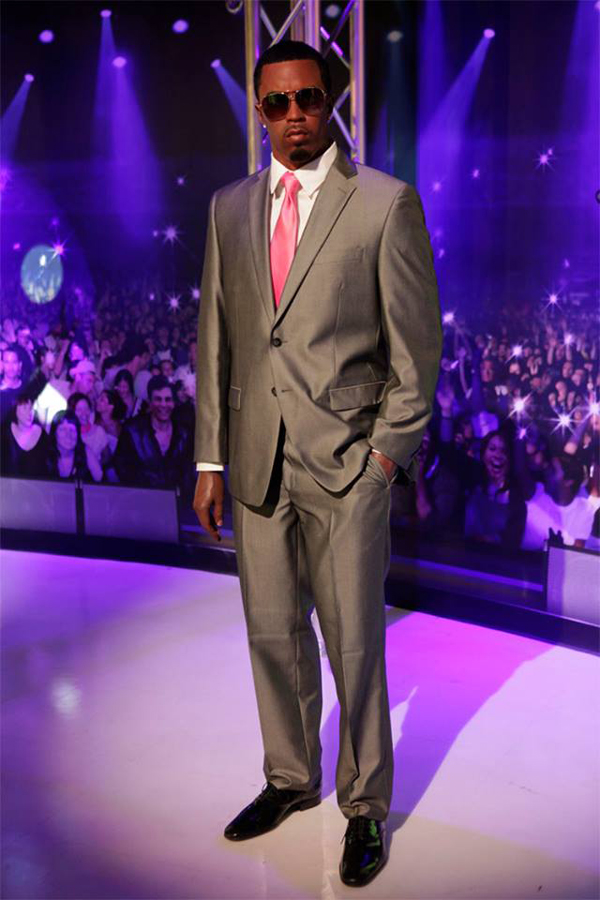 A wax figure of Diddy at Madame Tussauds.