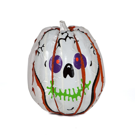 duck tape skull pumpkin