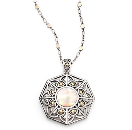John Hardy mother-of-pearl amulet