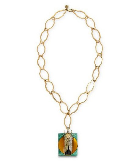 Tory Burch scarab pendant necklace