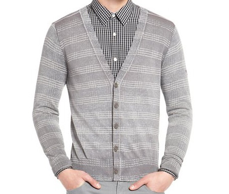 DKNY printed button-up cardigan
