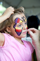 girl face paint butterfly