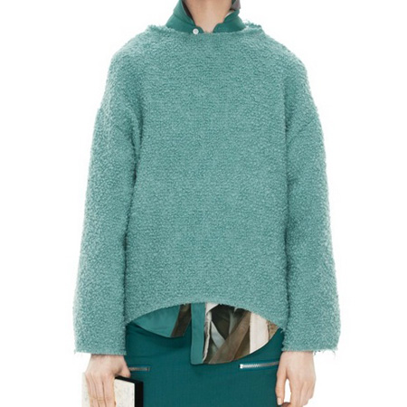Acne boucle top sweater