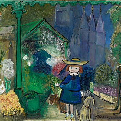 Madeline in New York at the Historical Society