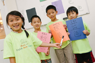 children learning chinese