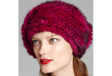 Maximilian Knitted Mink Bubble Beret