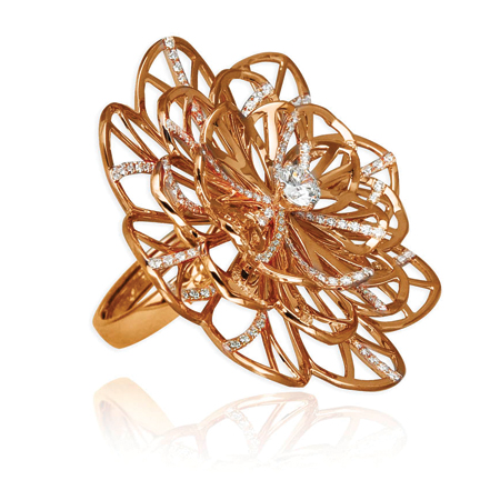 Abanico Collection ring by Jacob & Co. NYC