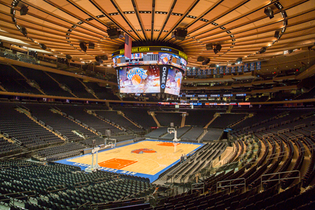 The Basketball Court At Madison Square Garden
