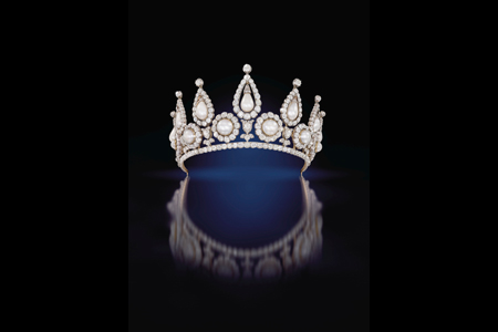 Lady Rosebery's pearl and diamond tiara Artist: The Qatar Museums Authority Collection Date: London c.1878