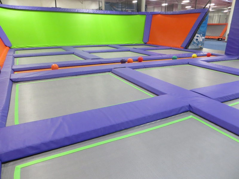 air trampoline dodge ball court