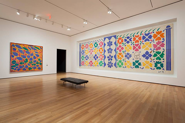 An interior view of the Museum of Modern Art.
