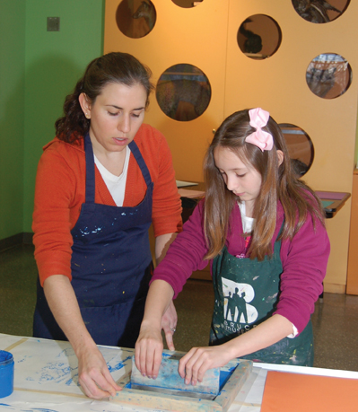 print making workshop at bruce museum