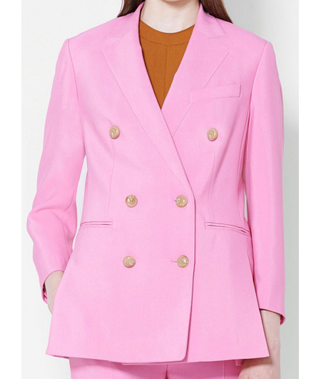 3.1 Phillip Lim pink, double-breasted blazer