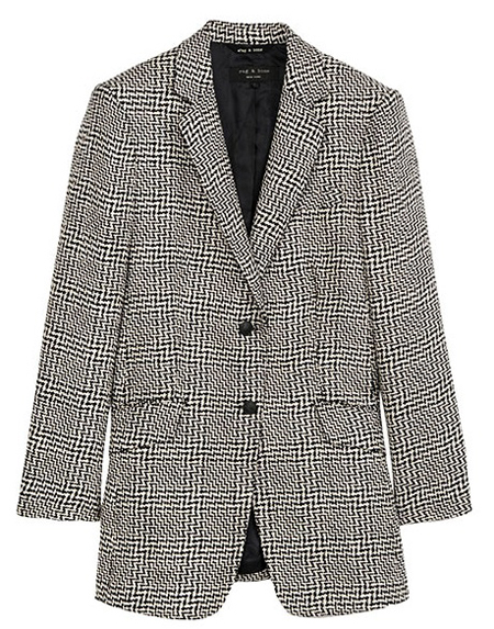 Rag & Bone houndstooth womens blazer