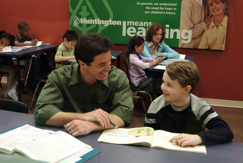 tutor and student at huntington learning center