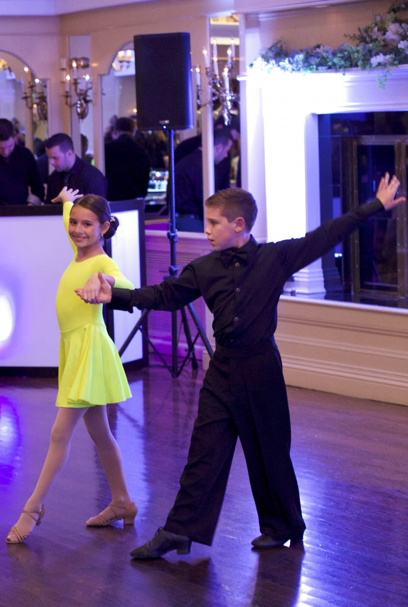 young partner dancers