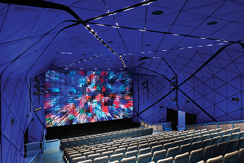 main theater at queens museum of the moving image