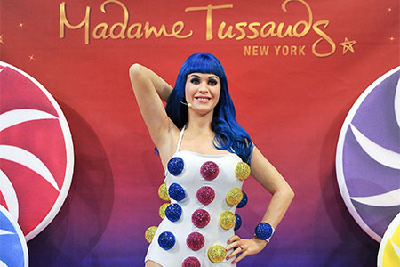 Katy Perry at Madame Tussauds New York
