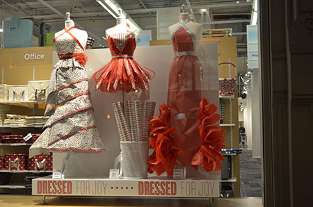 Container Store Holiday Windows