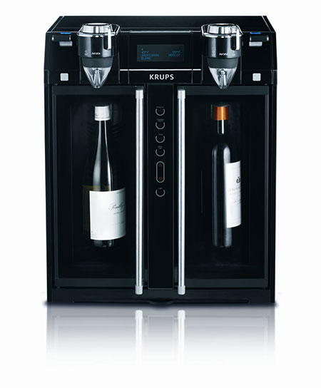 Krups' Two-Door Wine Aerator and Dispenser machine