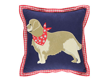 Martha Stewart golden retriever pillow