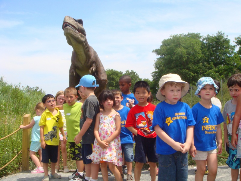 infinity campers at field station dinosaurs