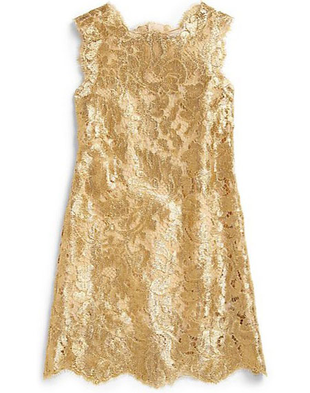 Dolce & Gabbana's metallic lace dress