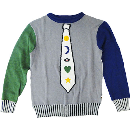 Intarsia Tie sweater from Babesta Threads