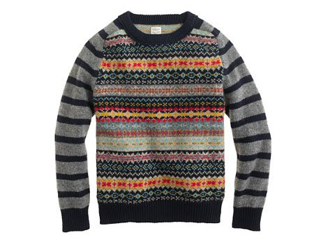 j crew crewcuts fair isle sweater