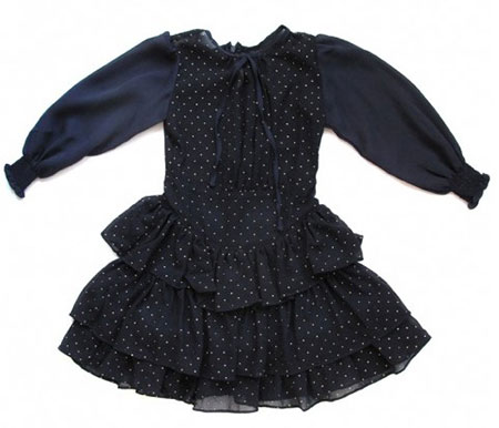 Sweet William studded frock with ruffles