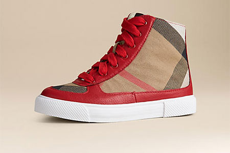 Burberry high-top trainers