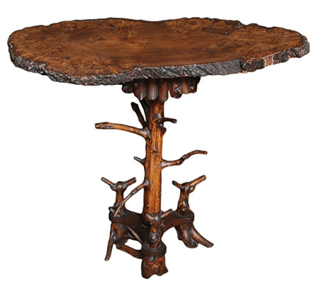 19th century yew wood cricket table