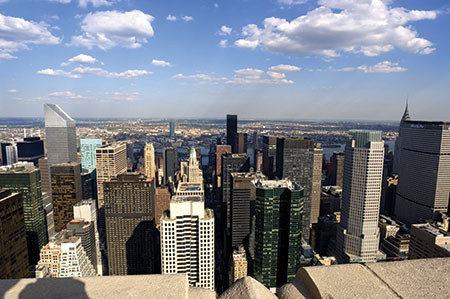 The view from Top of the Rock NYC