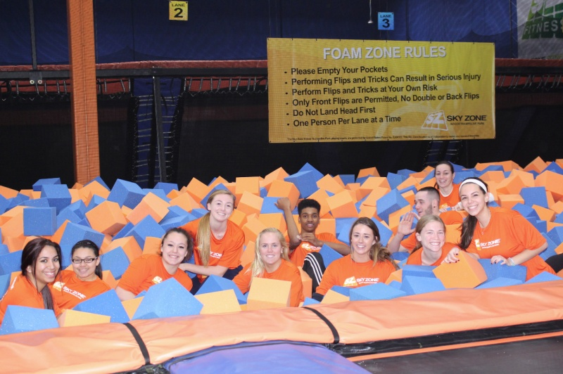 sky zone deer park indoor trampoline center
