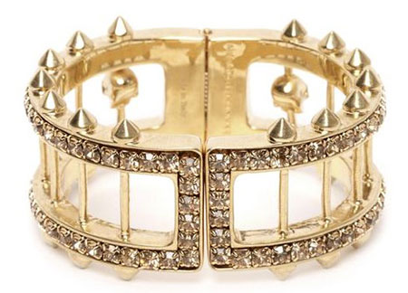 Alexander McQueen gold bangle