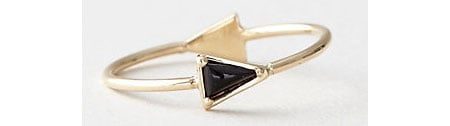 Mociun Black Diamond Triangle Ring