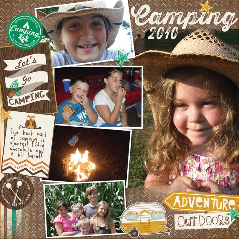 camping scrapbook page