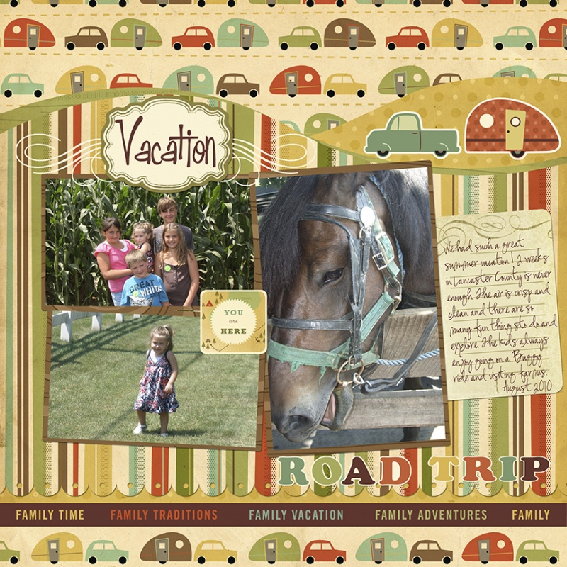 roadtrip scrapbook page