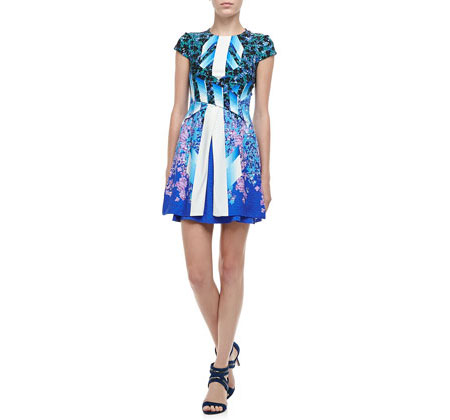Peter Pilotto double-layer knit dress