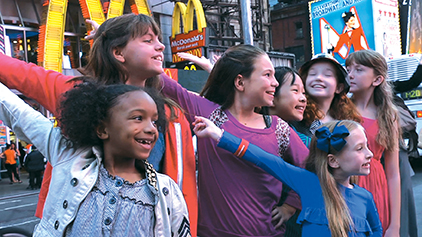 annie actresses in times square nyc