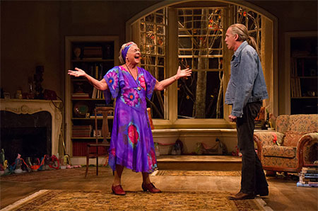 Estelle Parsons and Stephen Spinella in The Velocity of Autumn on Broadway