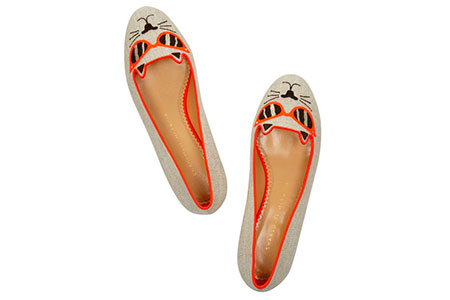 Charlotte Olympia Sunkissed Kitty slippers