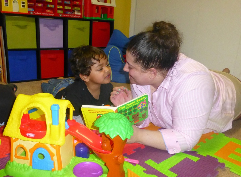 language therapy with child