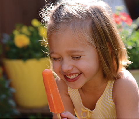 ruby's rockets orange popsicle