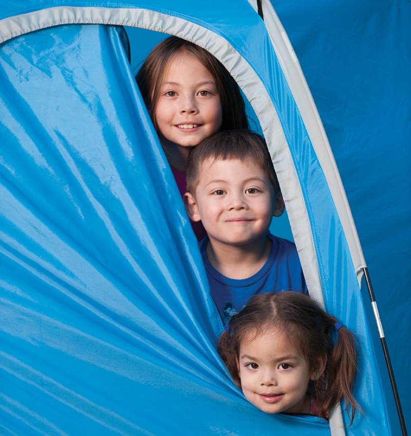 Kids-Poking-Heads-Out-Of-Tent-Flap