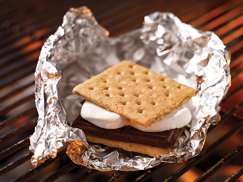 smores-on-grill