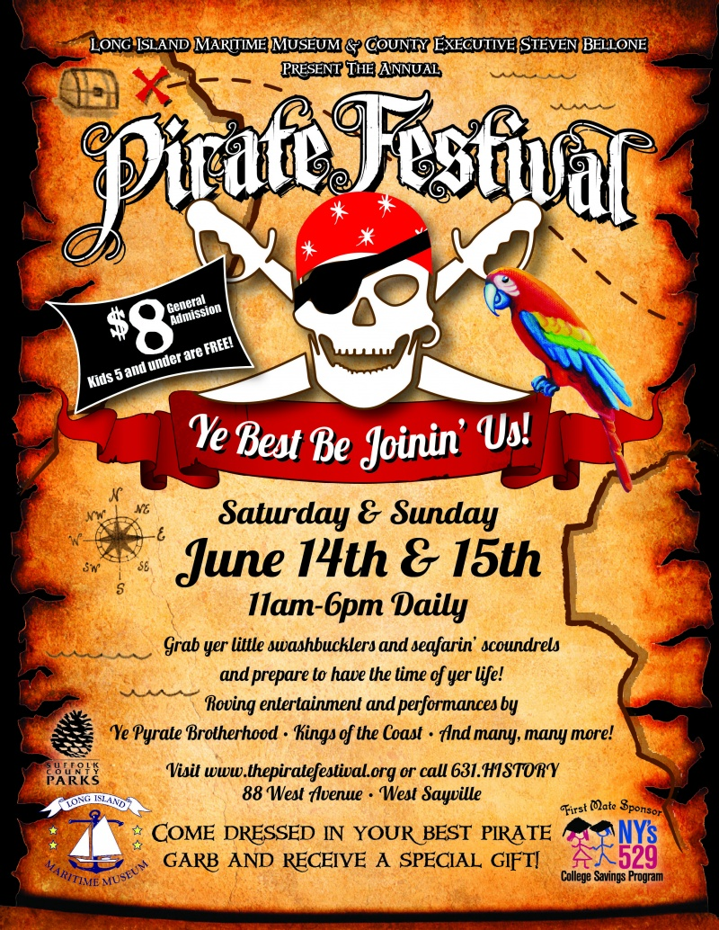 Win  Tickets To Pirate Festival At Long Island Maritime Museum - Pirate museums in the us
