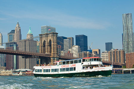 Circle Line 42's Best of NYC Cruise features 101 city sights, including 3 rivers, 7 major bridges & downtown Manhattan