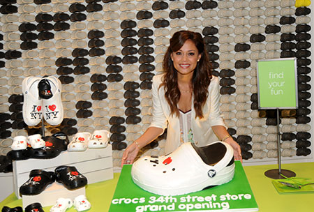 Vanessa Lachey at the Crocs flagship store opening in NYC