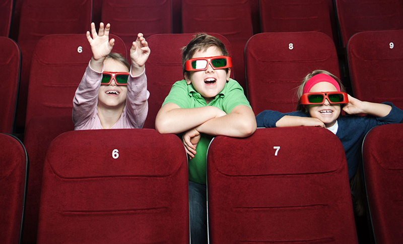 kids at 3d movie